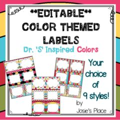 EDITABLE LABELS for your classroom, library, book bins, word walls & more! Bonus inclu... from Josie's Place on TeachersNotebook.com