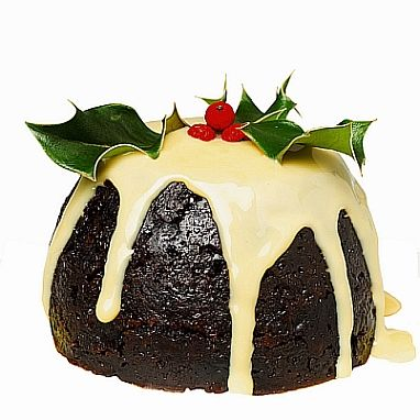 Traditional English Christmas Pudding - my mother and grandmother used to make a lemon sauce and a hard sauce to go with it - yummy but very rich!