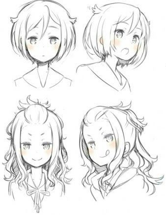 Image Result For Hairstyles References Drawing Pinterest Anime