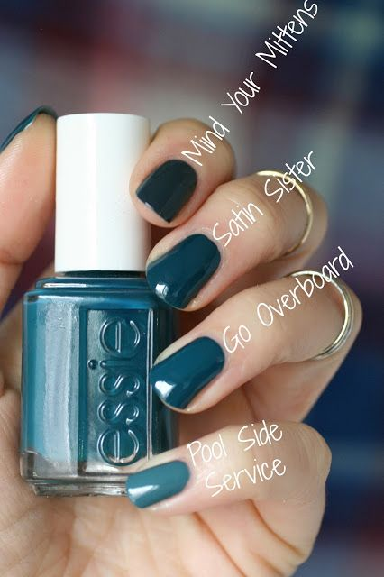Essie Winter 2016 - Satin Sister Comparisons | Essie Envy