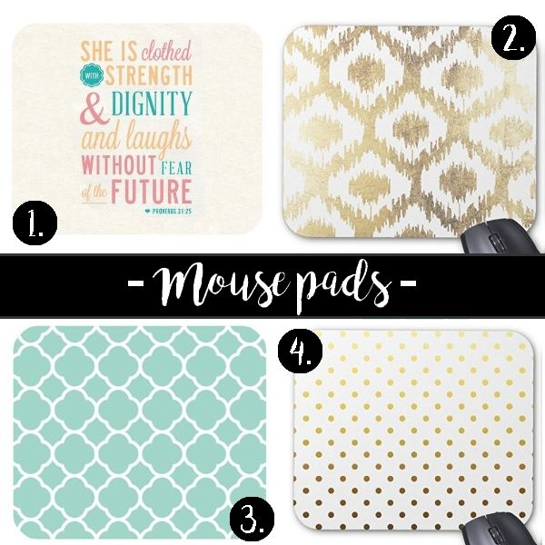 Chic mousepads for your workspace! #chic #feminine #workspace #homeoffice