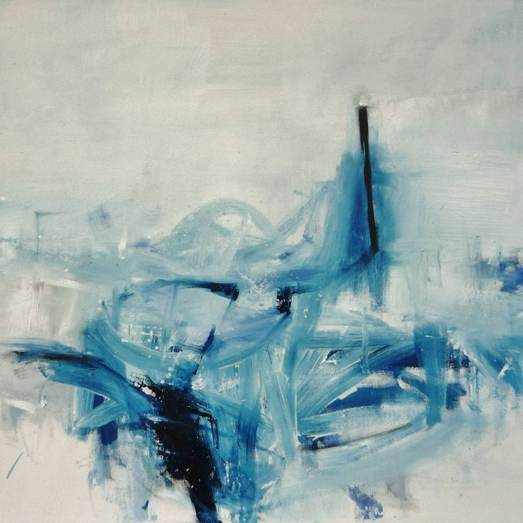 The Blue Motel Fading | From a unique collection of abstract paintings at https://www.1stdibs.com/art/paintings/abstract-paintings/