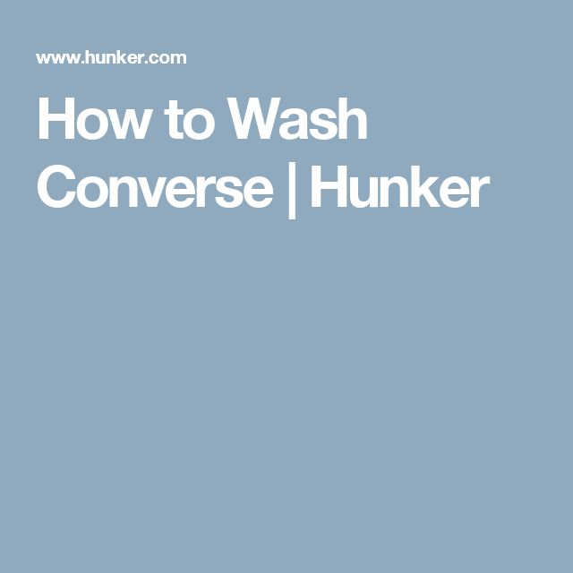 How to Wash Converse | Hunker