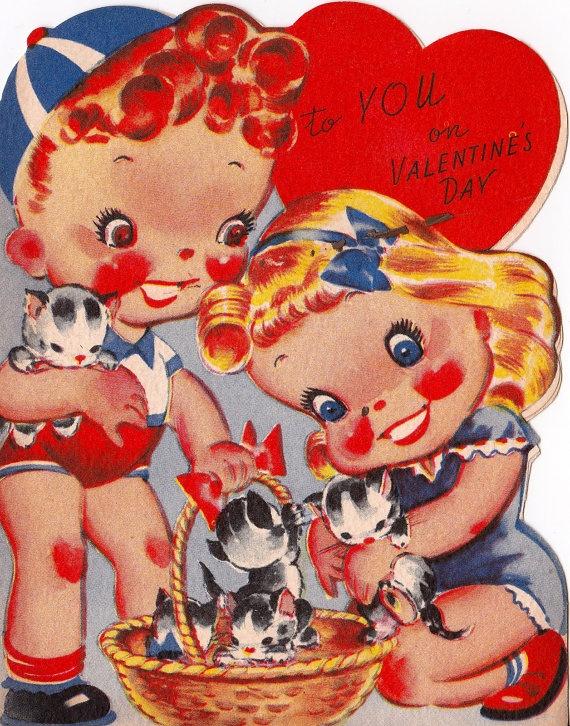 1940s Vintage Valentine Card  'To my Valentine' by Pommedejour, $4.50
