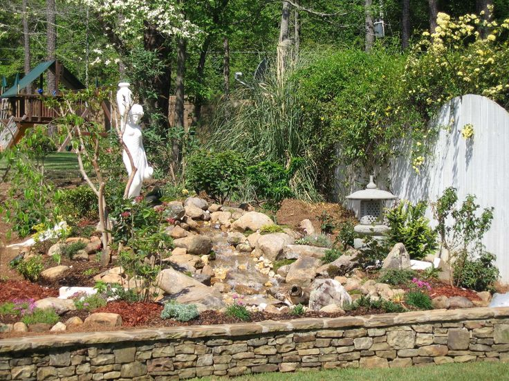 Backyard Pondless Waterfalls | One Of Our Advertisers Above A Beautiful Waterfalls  Outdoor Waterfalls