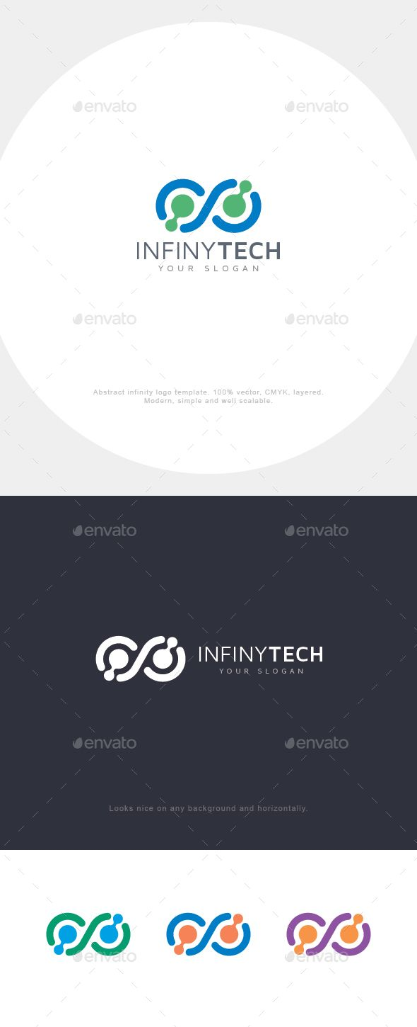 Infinity Connect Logo  — EPS Template #tech #internet #cloud #connect #system •…