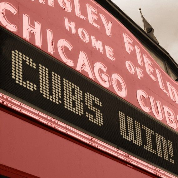 Chicago Cubs / Wrigley Field Marquee Art on Canvas