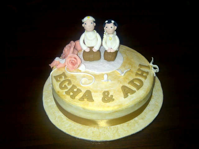 "traditional javanese wedding ""seserahan"" cake"