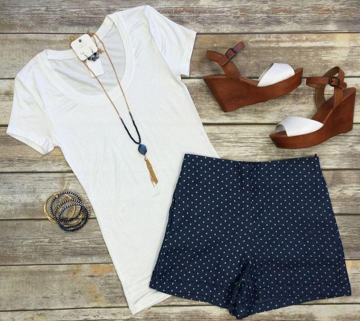 Preppy Polka Dot Shorts