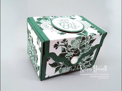Stampin' Up! Tranquil Tide gift box - YouTube