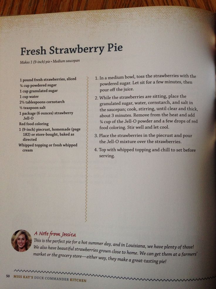 Fresh strawberry pie Kay Robertson's recipe