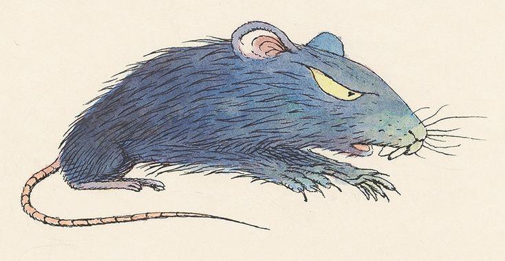 Peter Kľúčik - Potkan kresba, ilustrácia, 20. storočie, rozmer: šírka 22.5 cm, výška 14.0 cm