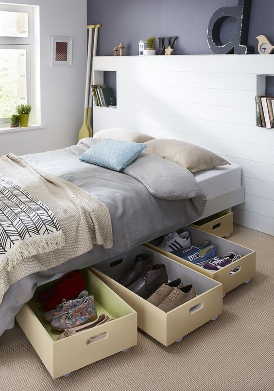 les 10 meilleures id es de la cat gorie rangement sous lit. Black Bedroom Furniture Sets. Home Design Ideas