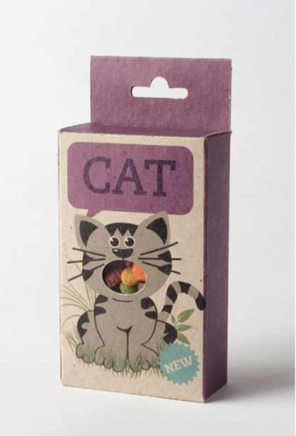 Cat food  packaging