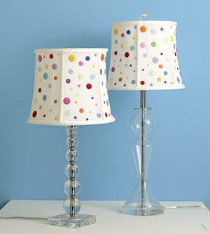 Great button lampshades!!