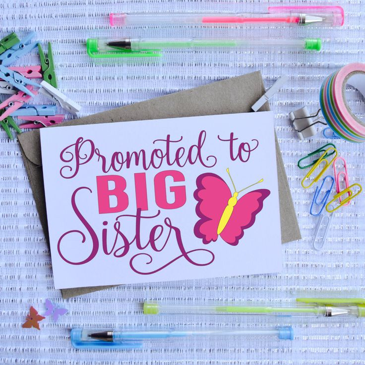 Promoted to Big Sister, Baby, Baby Announcement, Baby Shower, Sister, by TheArtOfCreativityCo on Etsy