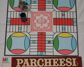 Vintage Board Games parcheesee | Vintage 1989 Parcheesi Board Game b y Milton Bradley Never Been Played ...