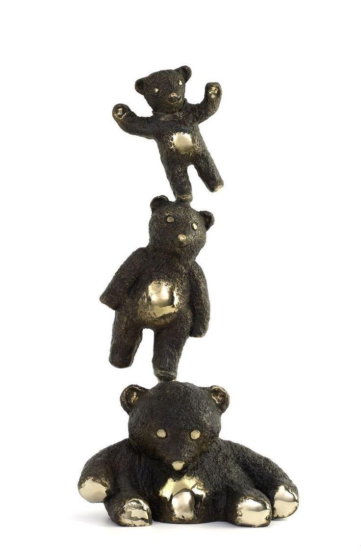 Philippe Berry - Trois petits nounours en équilibre | Oeuvre d'Art en Vente Artsper