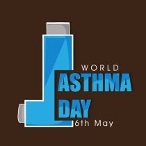 World Asthma Day concept with inhaler and stylish text on brown background. Description from shutterstock.com. I searched for this on bing.com/images