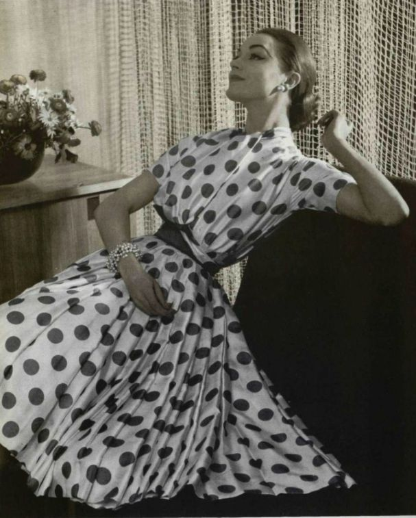 Polka dot fashion history 33