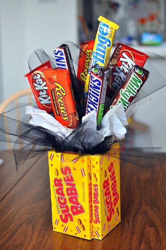 Çikolata ve şeker buketi