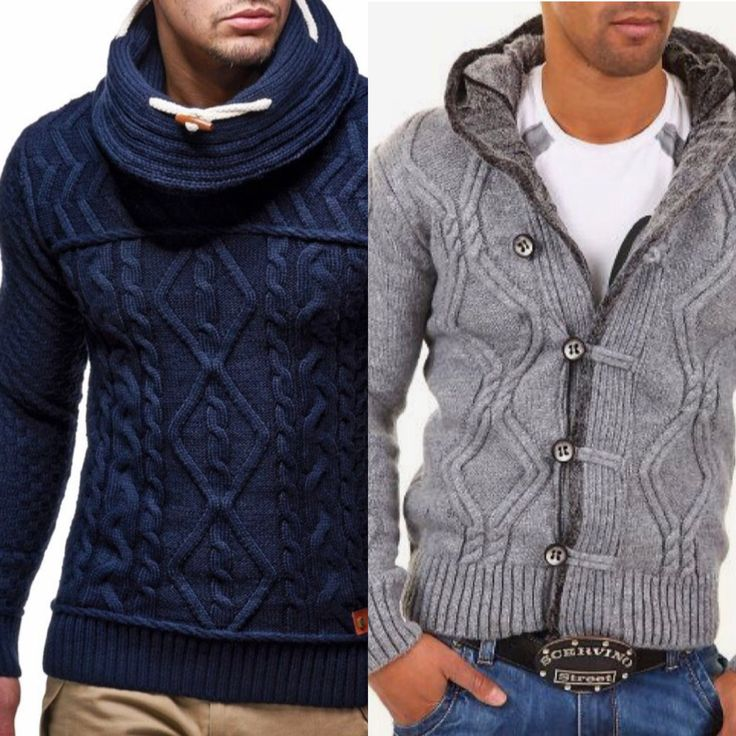Go rugged with an updated chunky sweater!