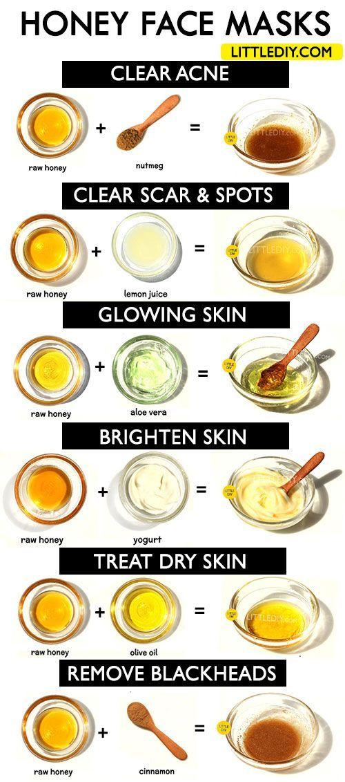 #DIY #Face #Für #Haut #Honey #klare #MASKS #strahlende #und HONEY FACE MASKS for clear, bright and glowing skin - LITTLE DIY Honig ist bekannt für seine erstaunlichen hautreinigenden und aufhellenden Eigenschaften. Verwenden Sie Honig regelmäßig in Ihrer Hautpflege, um eine gesunde, jünger aussehende und strahlende Haut zu erzielen. Honig, um die Narbe loszuwerden - | Leben leicht gemacht