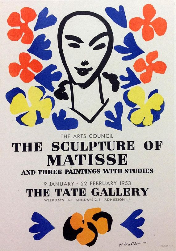 Artist: Henri Matisse Country: Spain Title: The sculpture of Matisse Medium: Lithograph Size: 9.5 x12.5 inch Printed ; 1959 by Mourlot Freres, France on vellum paper Apart from:Art in posters Condition: Very good Certificate of Authenticity Is Included Henri Matisse (1869-1954) French