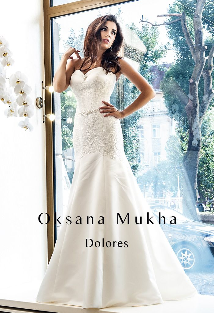 "Wedding Dress ""Dolores "" Oksana Mukha collection  bridal wear , wedding gown, lace white dress cape town"