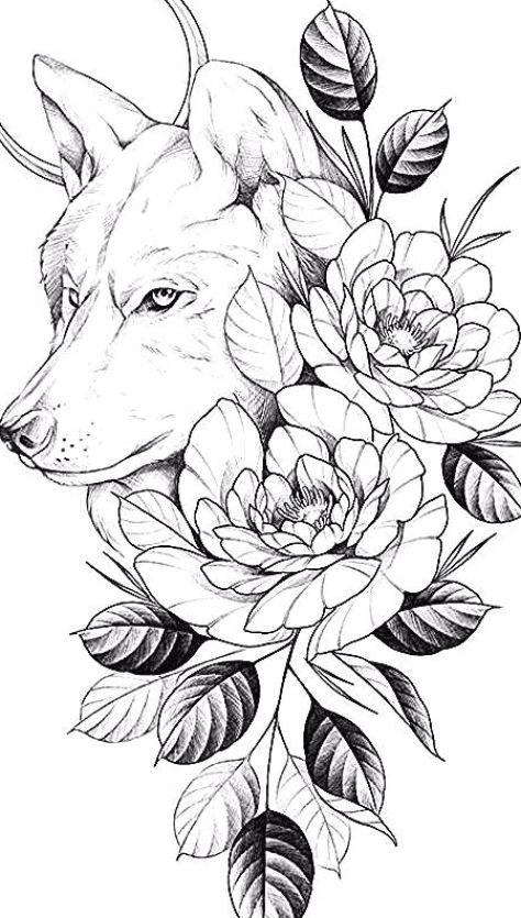 Dark Art Drawings, Art Drawings Sketches Simple, Tattoo Drawings, Print Tattoos, Flamingo Decor, Flamingo Print, Flamingo Gifts, Wolf Tattoos, Animal Tattoos