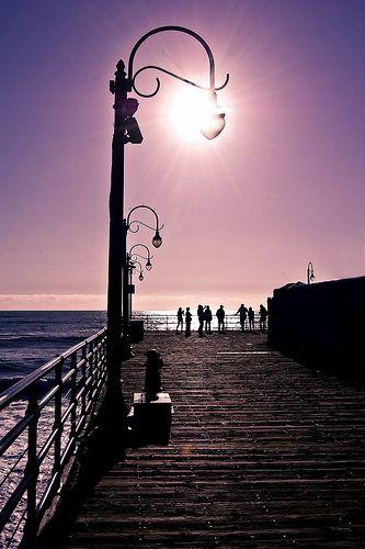 Santa Monica Beach, California by Red Dahlia