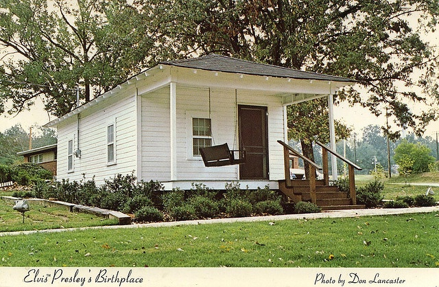 Elvis Presley's Birthplace, Tupelo Missisippi        this is a shotgun house and it looks like a little better homes and garden house but before remodeling and landscaping it was      for better words  nothing to be desired  ellie hamm