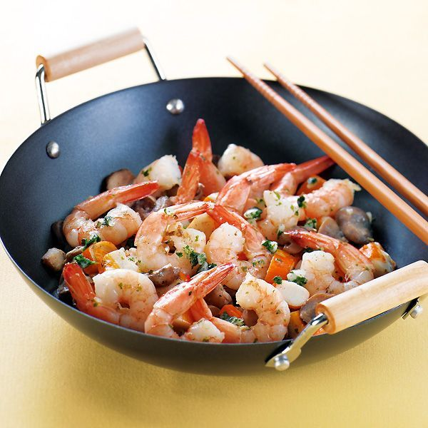 WeightWatchers.fr : recette Weight Watchers - Poêlée de surimi et de crevettes