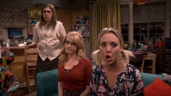 no the big bang theory kaley cuoco big bang tbbt penny mayim bialik bbt melissa rauch amy farrah fowler dr. bernadette rostenkowski-wolowitz trending #GIF on #Giphy via #IFTTT http://gph.is/1TjoYY3