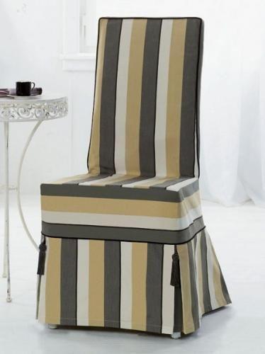 Еще один интересный текстильный аксессуар интерьера чехлы на стулья, пуфы…
