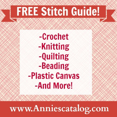 Annie's Free Stitch Guide covers crocheting, knitting, quilting, plastic canvas, beading and more. Bookmark it so you'll always have it at your fingertips!