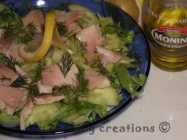 My cooking creations: Insalata con trota affumicata * Салата с пушена пъстърва
