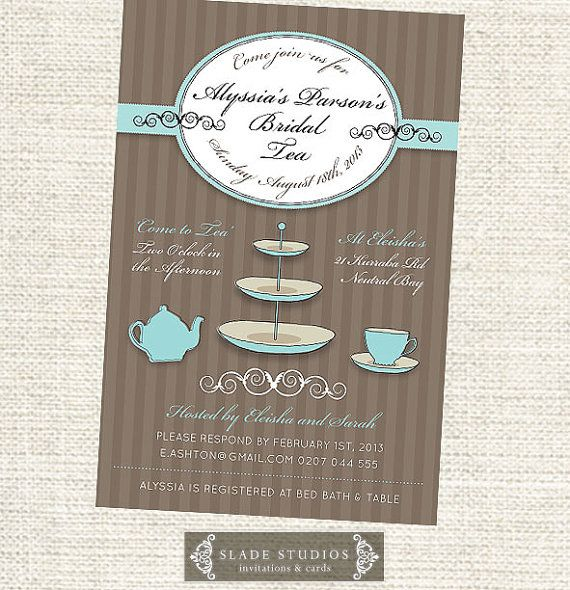 Bridal Tea invitations. Bridal Shower  Kitchen Tea by SladeStudios, $20.00