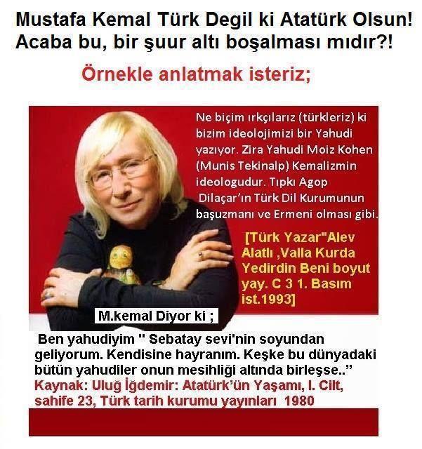 Atatürk;kendini türk hisseden herkes türktür,demiştir.yani ırk din gözetmemiştir,alev alatli'nin kökenini araştirsak ne çikar acaba