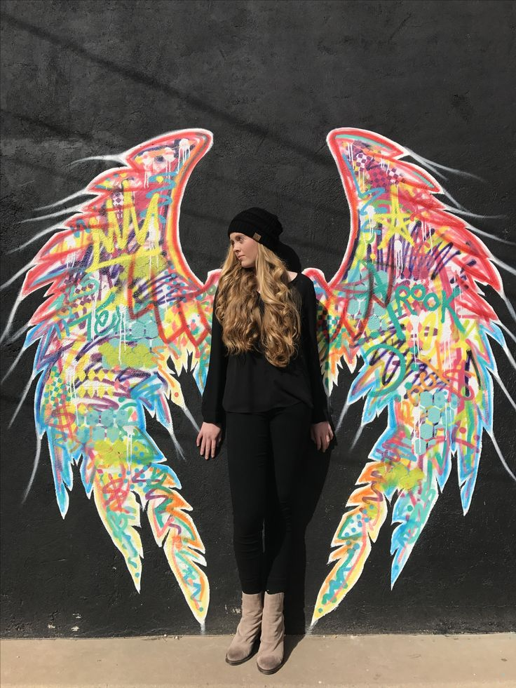 Angel wings, San Angelo TX. Graffiti photography.
