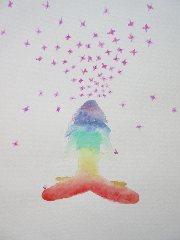 Meditation Chakra Watercolor <3