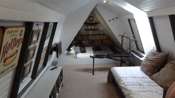 This Man Started Out With A Dusty, Old Attic. The Photos Of The Finished Product Are Incredible. - http://www.lifebuzz.com/attic-cave/