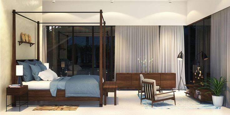 Master Bedroom Interior at Waikiki Waterscape Resort, Vengurla - Architecture BRIO, India #rendering #tropicalarchitecture #contemporary
