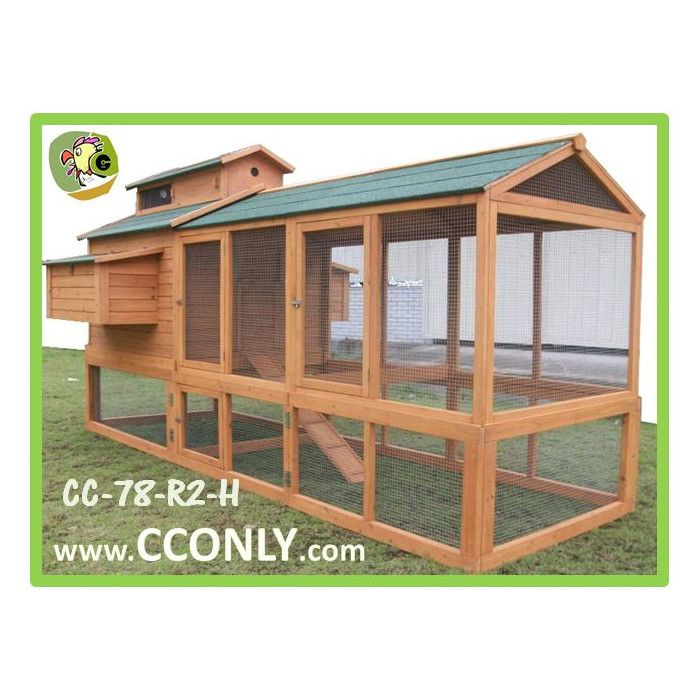 CC Only Chicken Coop with Chicken run & Reviews   Wayfair This is the next one for me! 9 chickens!