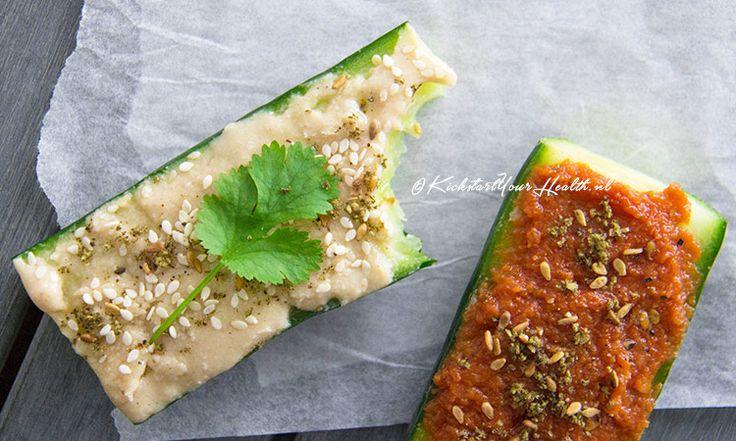 Komkommer sandwich (broodvervanger)