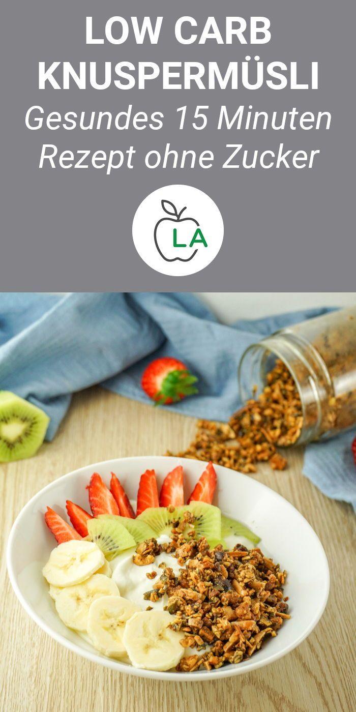 Low Carb Knuspermüsli – Gesundes Low Carb Frühstück ohne Zucker