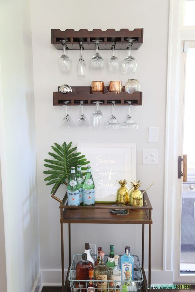 Summer Bar Cart via Life On Virginia Street
