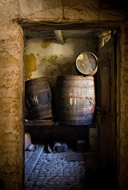 wine barrels, botte di vino by Robert Barone (playing hooky), via Flickr