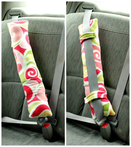 Make car rides as comfortable as possible with this DIY seatbelt pillow. This is a great sewing project for any experience level and helps make long car rides more enjoyable for everyone. Click in for full instructions, courtesy of So Sew Easy.