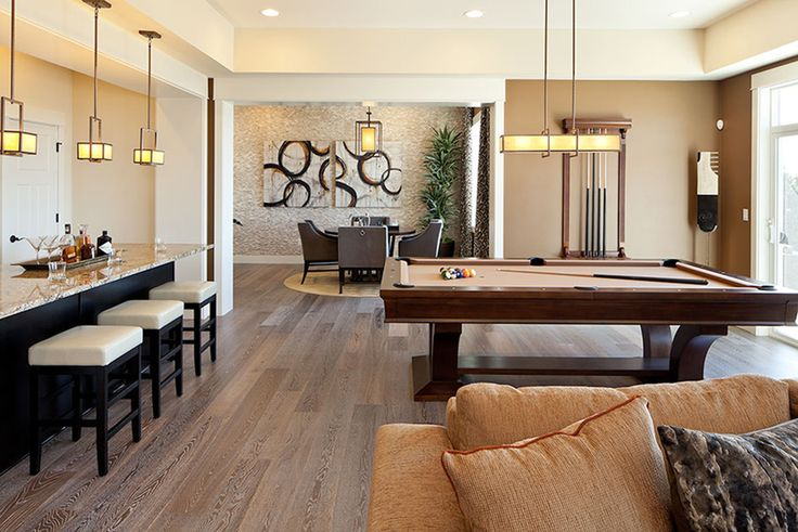 Toll Brothers - Unwind in this spacious gameroom and media room, located in the finished basement of the McCartney plan.